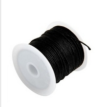 10Meters 0.5mm Black Waxed Cotton Cord  Beading & Necklace & Bracelet Cord / Jewellery Making Cord 4Q256