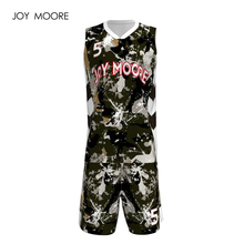 Camouflage basketball jersey couple design, basketball jersey custom any color(China)
