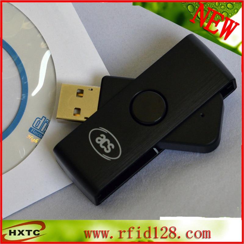 Portable Smart Card Reader USB ACR38U-N1 CAC Writer ID SCM Fold<br>