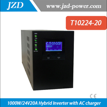 Hybrid Inverter  1000W/24V20A Pure sine wave  Inverter with Solar Charger Controller Use in Solar power System
