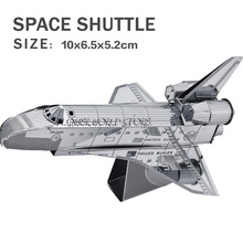 New creative 3D puzzles 3D metal model Space shuttle Jigsaws Creative DIY Adult/Children gifts toys Space plane And many(China)
