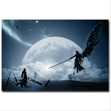 Cloud VS Sephiroth - Final Fantasy XV Game Art canvas Poster Print Wall Pictures For Bedroom Living Room home Decor