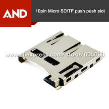 10pcs/lot 8pin TF Card Holder/SIM Card Socket Mobile Phone Card Seat Mirco SD card 2 in 1,pin9/10 card detect