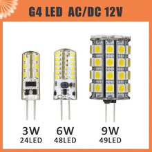 10 pcs G4 LED Lamp 3W 6W 9W AC DC 12V 3014/5050 SMD Replace 20W 30W 40W Halogen Candle Light Bulb 360 degree chandelier lighting