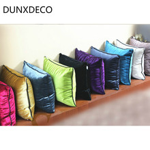 DUNXDECO Velvet Cushion Cover Decorative Pillow Case Modern Classical Plain Color Soft Coussin Home Office Room Sofa Decor(China)