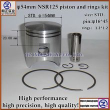 QZ industrial Free shipping high performance for Honda motorcycle engine parts 54mm NSR 125 NSR125 piston and rings kit(China)