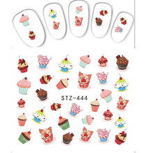 1pc Delicious Cake Food Emoji Hot Fashion Nail Art Sticker Water Transfer Full Beauty Decals Wraps Manicure Tools SASTZ444(China)
