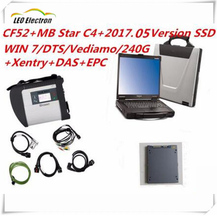 2017.05 Newest  MB Star C4 with CF52 Laptop and SSD Software DTS Monaco+ vediamo +xentry+DAS Best For Mercedes Compact Diagnose