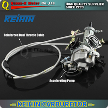 Hight Performance KEIHIN PZ30 30mm Carburetor Power Jet Accelerating Pump +Dual Cable IRBIS For 200cc 250cc Motorcycle Dirt bike(China)