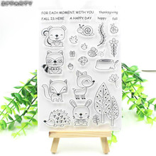 ZFPARTY Forest Animals Transparent Clear Silicone Stamp/Seal for DIY scrapbooking/photo album Decorative clear stamp sheets(China)
