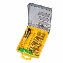 On Sale Electric precision Screwdriver Set For Repair iPhone watch Multi Hand Tools kit mini magnetic 32 bits in 1 triangle torx(China)