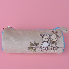 Brown Color Lover Sheeps Plush Toy Pencil Case, Kids Child Coin Bag Gift Free Shipping