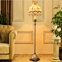 Resin Fabric Lampshade Floor Lamp Led E27 110V-220V European Style Modern Floor Lamps for Living Room Floor Standing Lights(China)