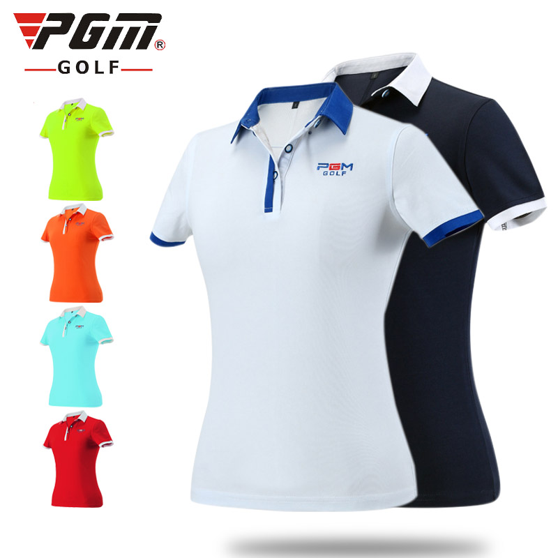 031713 Womens Golf T-shirt short-sleeved T-shirt high lock color technology does not fade sports collar<br>