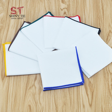 2017 Men's Cotton Handkerchief White Elegent Sunny Pocket Square Colorful Hanky For Suit  Party Wedding Drop Shipping Service