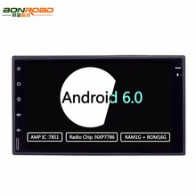 Quad Core 1024*600 Android 6.0 os 7inch 2 din 2 double Car PC Tablet Universal GPS Navigation Radio Stereo Video Player( No DVD)