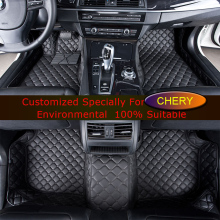 Car Floor Mats for Chery Tiggo 3 Tiggo 5 A3 A5 Rich X1 X5 G5 V5 Auto Foot Mats Carpets Car Rugs Customized Carpets