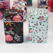 Wholesale Organizer Tea Caddy Tin Box 6Piece/Lot Metal Tin Box Candy Storage Case Accessories Container Treasure Chest