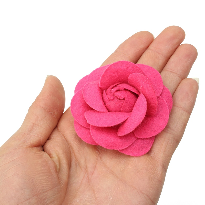 10pcs DIY Flower Decoration Mobile Phone Strap Case Universal Camellia Rose Flannelette Headdress Portable Bag Accessories(China)