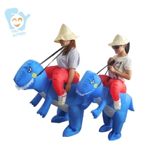 Halloween Costume For Kids Cosplay Inflatable Carry Me Ride On Blue Dinosaur T Rex Costume Boy Stictch Costumes
