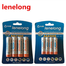 Ienelong 4pcs 1.2V (1600mAh-2100mAh) AA Batteries +4Pcs (600mAh-900mAh) AAA Batteries NI-MH AA/AAA 3A Rechargeable Battery , Toy