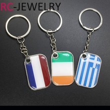 World Cup Football Keychain Greece Nederland Ireland Flag Pattern Soccer Game Keyring Men Car Key Chains Souvenir Gift 2018(China)
