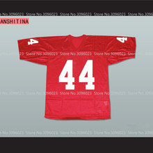 LANSHITINA FORREST GUMP Jersey 44 Red American Football Jersey Throwback Retro Stitched Shirts(China)