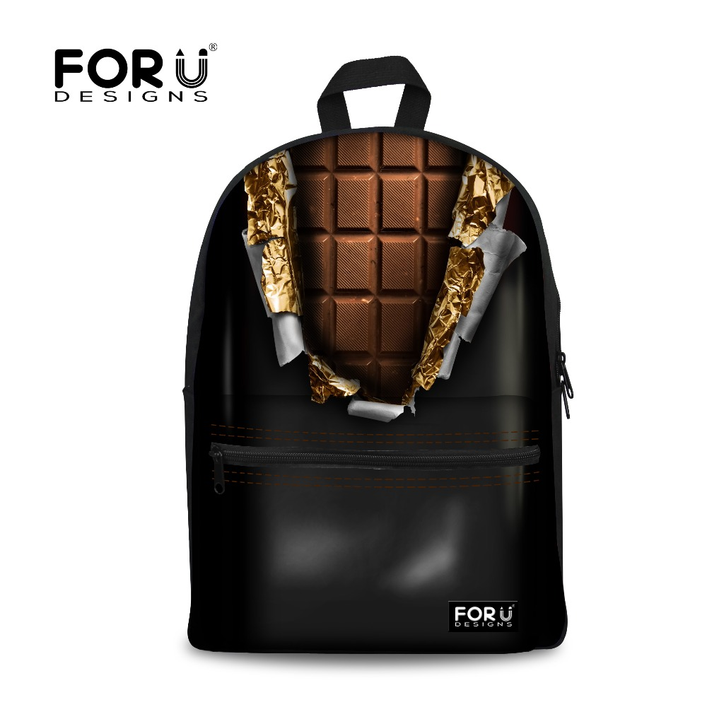 FORUDESIGNS High Quantity Kids School Bags For Teenager Girls Chocolate Doughnut Printing Schoolbag Children Mochila Escolar Bag<br><br>Aliexpress