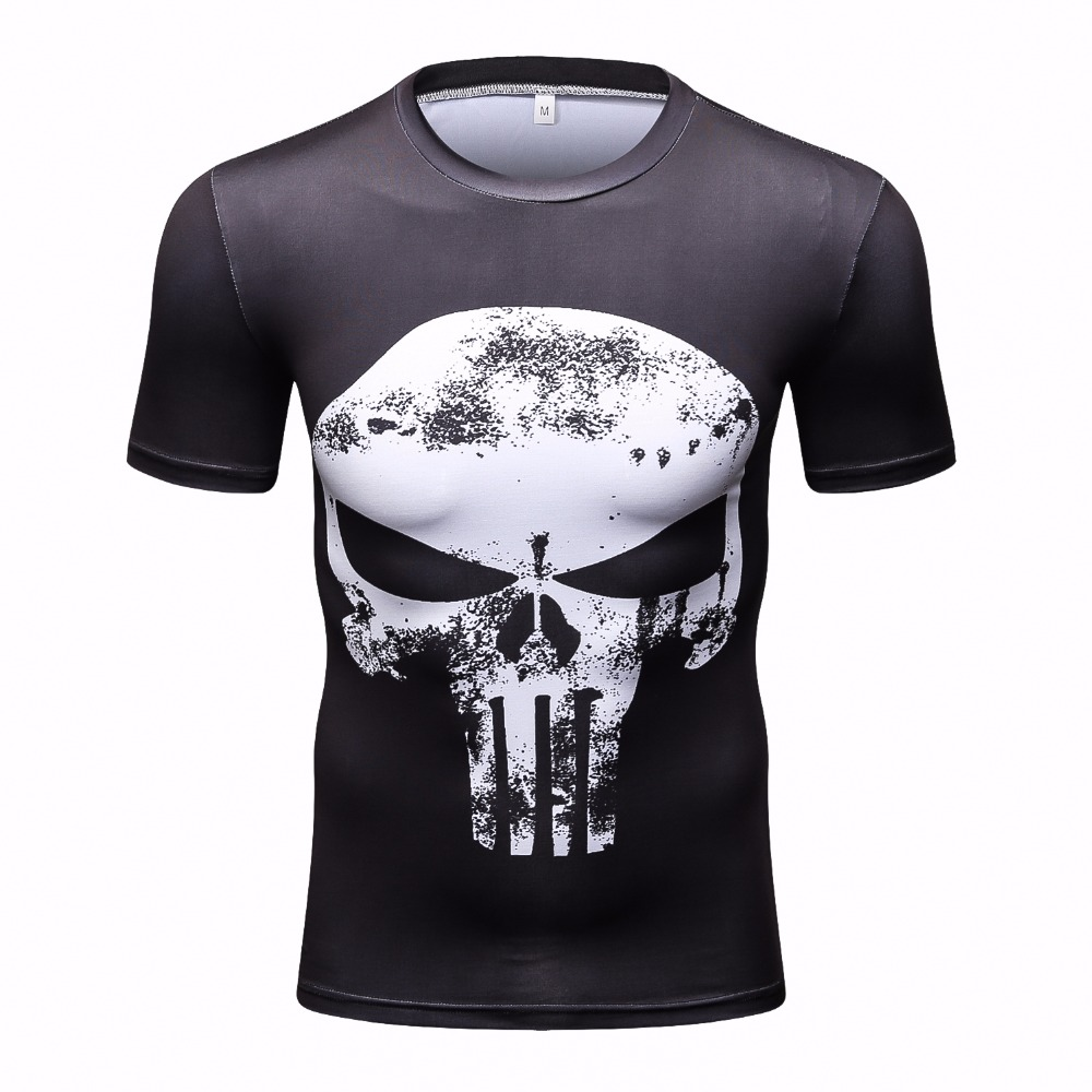 Punisher 3D Printed T-shirts Men Compression Shirts Long Sleeve Cosplay Costume crossfit fitness Clothing Tops Male Black Friday 27
