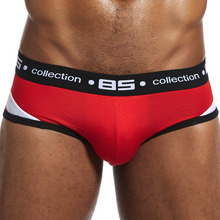 Buy Brand Men Underwear Sexy Men Briefs Breathable Mens Slip Cueca Male Panties Underpants Briefs 4 colors men's homewear briefs