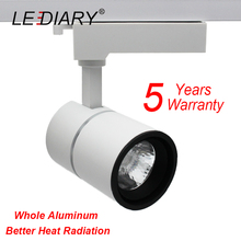 LEDIARY Top Quality LED Track Lamp 15W 220V 15 Degree 2 Wires Commercial Lighting Shop Mall Hotel TOYO Whole Aluminum COB RA85