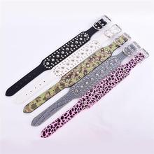 Cheap High Quality Large Pet Dogs Collar Spiked Studded PU Leather Dog Collar Necklace Pitbull