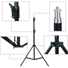 Photographic equipment 210cm 1/4 Light phone stand camera holder Stand Lamp cap Tripod Photo Studio Accessories(China)