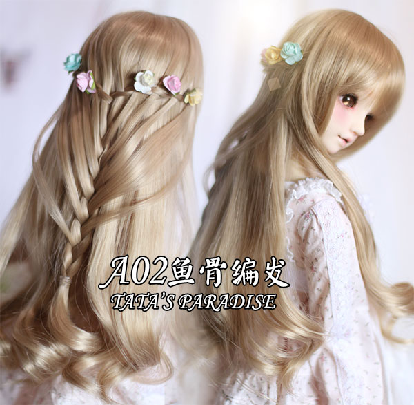 NEW 1/3 BJD wig long curly braid hair  doll  DIY for1/3 ,1/4 BJD SD DD MDDdollfie<br>