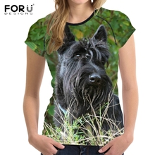 Buy FORUDESIGNS Cute 3D Scottish Terrier Dog Print Women T Shirts Fashion Summer O Neck Tee Shirt Teens Girls Short Sleeve Tops for $14.99 in AliExpress store