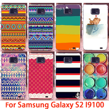 Hard Phone Cases For Samsung Galaxy SII I9100 4.3 inch S2 GT-I9100 Case Vintage AztecTribal Back Cover Skin Shell Housing Sheath
