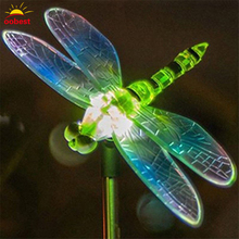 Waterproof LED Solar Light Lamp Dragonfly/Bird Path Outdoor home Garden Lawn Landscape Christmas lighting Lights decorations(China)
