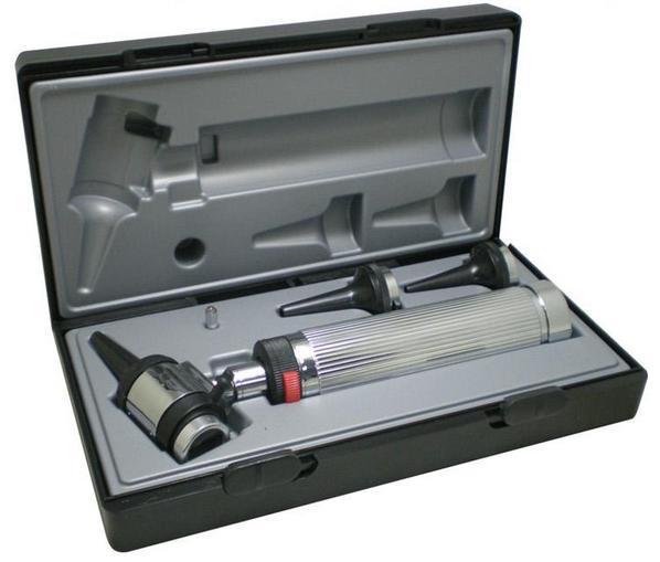 Free shipping Professional Diagnositc Otoscopio Medical Ear Otoscope with Halogen Light<br>