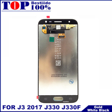 Replacement LCDs For Samsung Galaxy J3 2017 J330 J330F LCD Display Touch Screen Digitizer With Brightness Control Adjustment(China)
