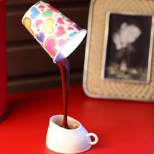 SELL DIY LED Table Lamp Home Romantic Pour Coffee Night Light Nice Gifts(China)