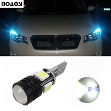 BOAOSI 1x T10 LED 5050SMD 4smd + 1.5W Canbus Car Width Bulb Light For Subaru impreza legacy xv forester Outback Tribeca Fiat