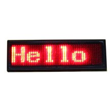 Red color LED Programmable rechargeable Scrolling Name Message Badge Tag Digital Display English Russian, etc many languages(China)