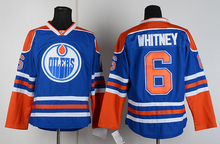 2017 NEW north american  latest international custom ice hockey jersey hot sales long warranty #6 whitney fasty shipping