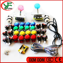 Arcade mame DIY KIT FOR PC/PS3 2 players USB to jamma LED illuminated joystick 32mm push button with microswitch 1P 2P button