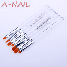 New 7Pcs Nail Brush Set Crystal Nail Polish Brush Kits Nail Tips Brushes Hot Selling(China)