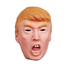 Donald Trump Mask Billionaire Presidential Costume Halloween Celebrity Cosplay Mask Latex Masquerade Christmas Carnival Masks(China)