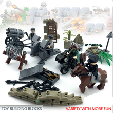 DOLL D170 Dillon WWII MILITARY minifigures West battle doll doll children assembled puzzle blocks toys