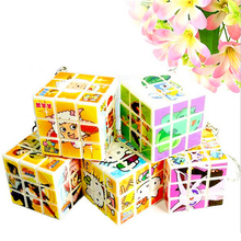 Zcube Mini Magic Cube Key Ring Puzzle Key Chains Relieves Stress Toy Halloween Christmas Gift Bag Decor(China)