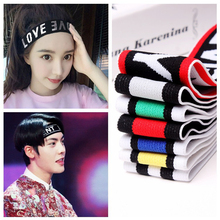 Buy Letter Printing Anti-slip Headband Sweatband Elastic Running Sport Yoga Stretch Hair bands Gym Headwear Women Men for $1.30 in AliExpress store