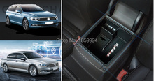 For 2016 2017 2018 VW Passat B8 Alltrack Variant Armrest Center Storage Box Container Glove Organizer Case door lock cover(China)